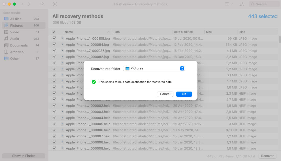 recover deleted photos via disk drill