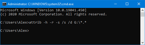 Use the command prompt on Windows systems