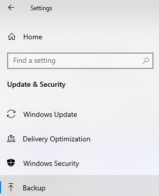 Setting up File History on Windows 10