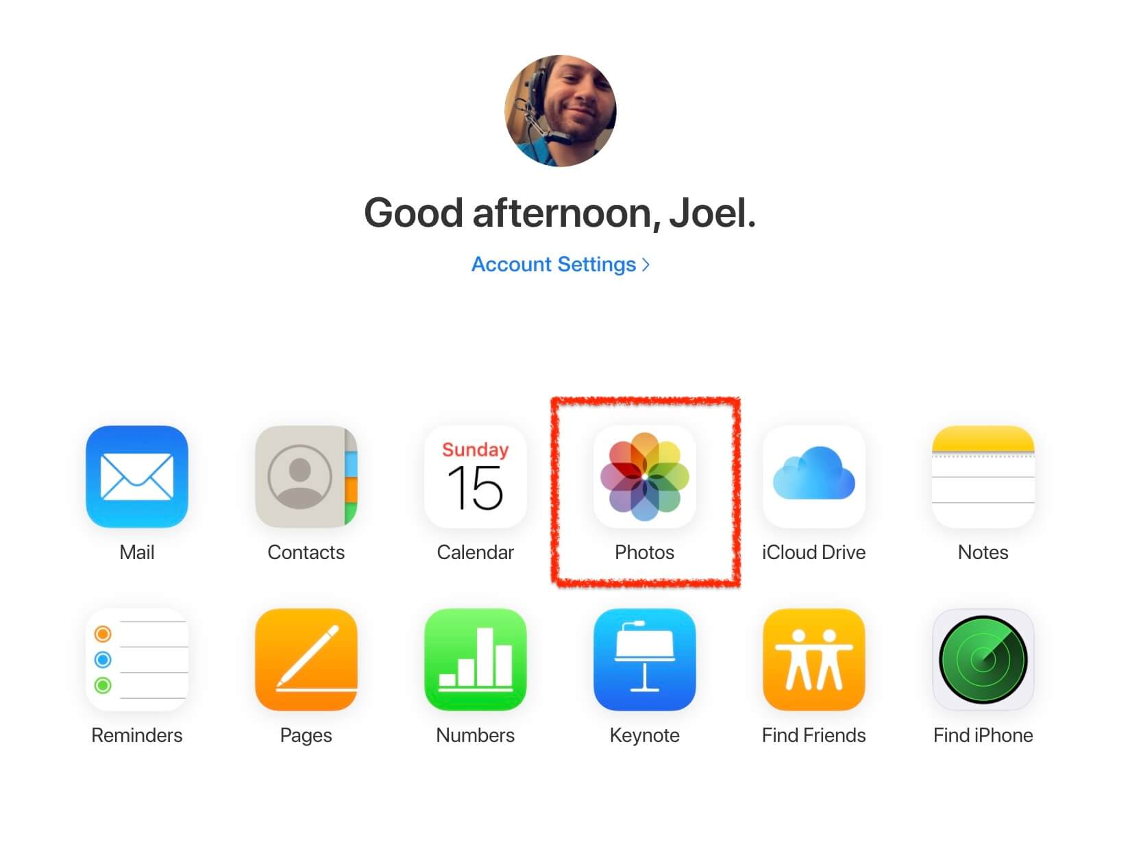 using icloud to recover photos