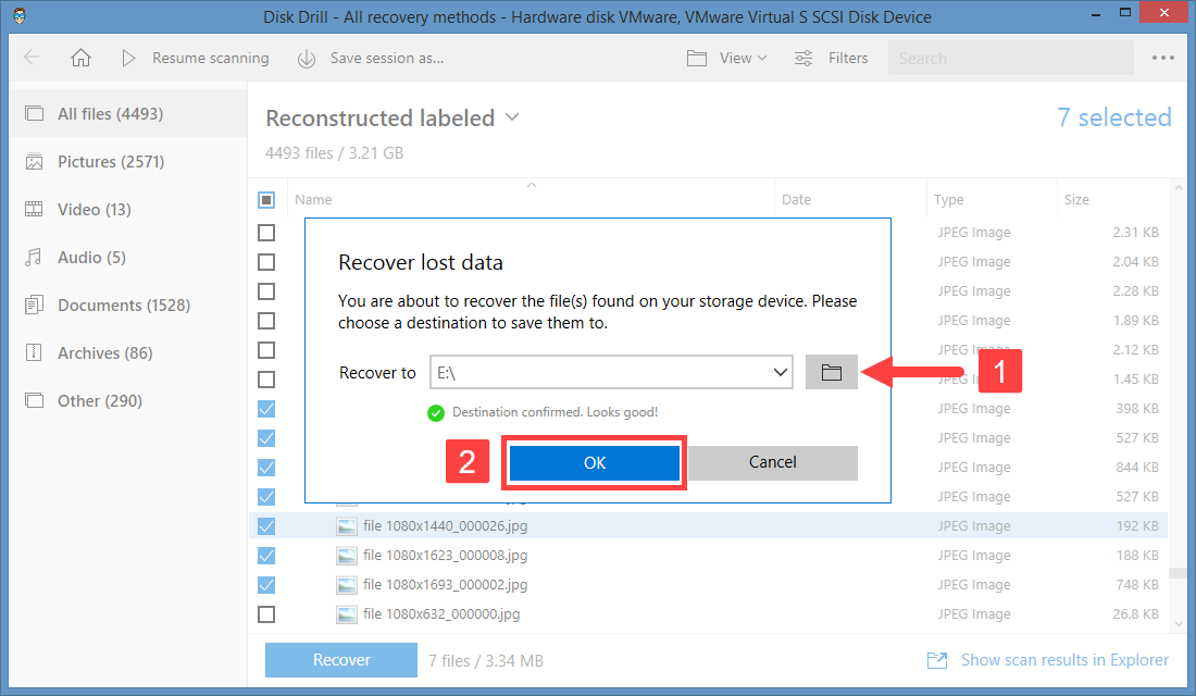windows 8 disk drill recovery directory