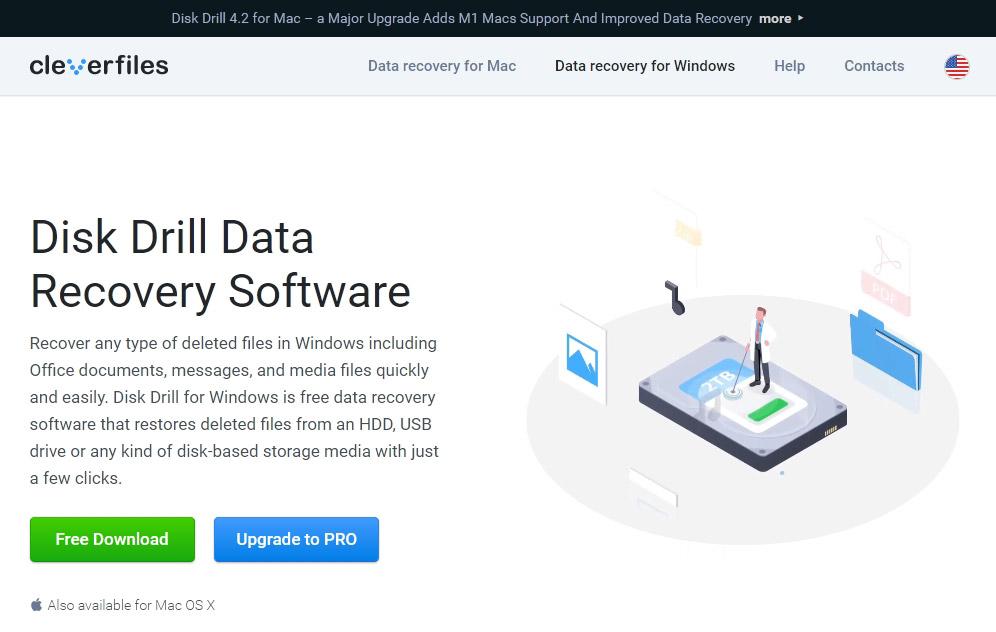 Descarga Disk Drill desde su sitio oficial