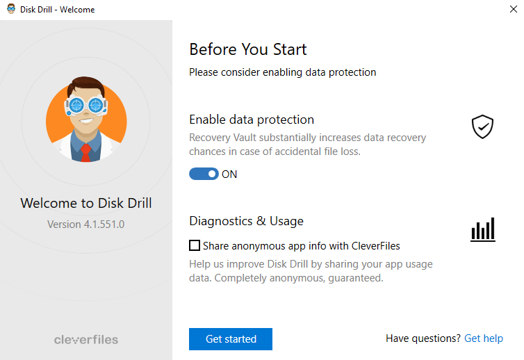 Disk Drill Enable Data Protection