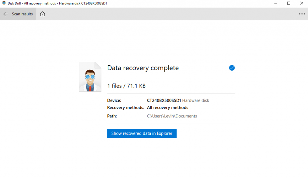 Disk Drill File Recovered