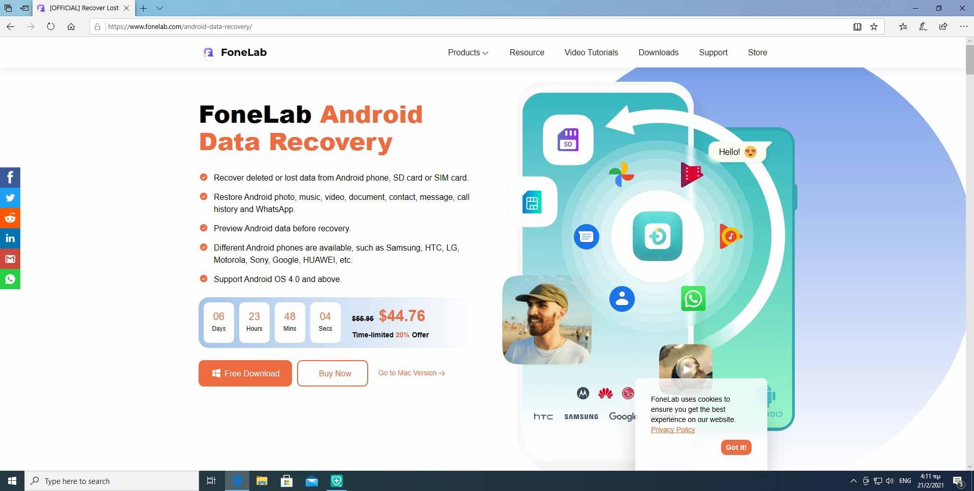 Descarga la aplicación FonLab desde su sitio oficial