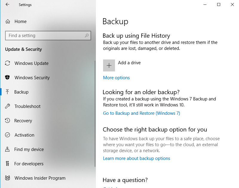 Windows Backup