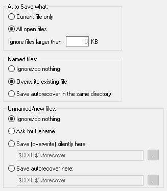 other auto save options in notepad++