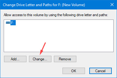 Assign a New Drive Letter - Step 4