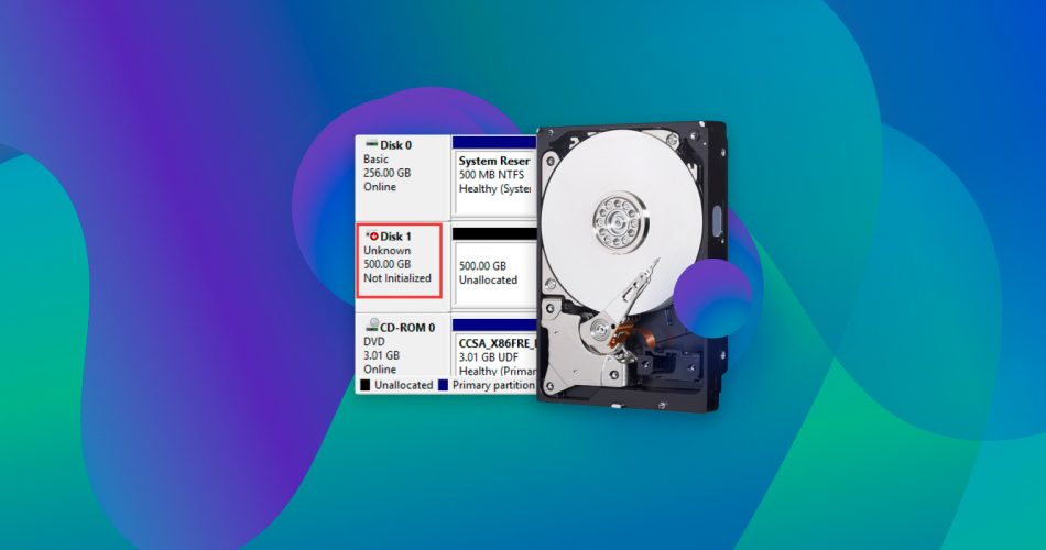 Recover Data From an Uninitialized Disk